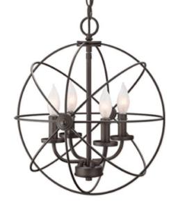 globe metal pendant