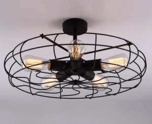 industrial fan light fixture