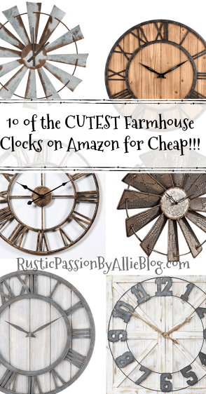 farmhouse clock, pallet clock, wood clock