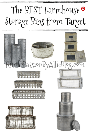 Affordable Farmhouse Home Decor - Cheap Farmhouse Home Decor - Home Decor - White Home Decor - Kitchen Home Decor - Neutral Home Decor - Galvanized Home Decor - Farmhouse Storage Bins - Storage