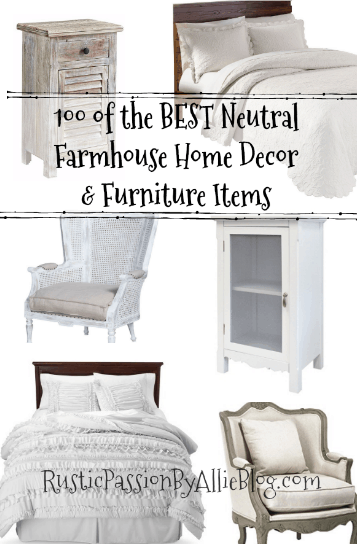 farmhouse home decor, neutral home decor, farmhouse furniture