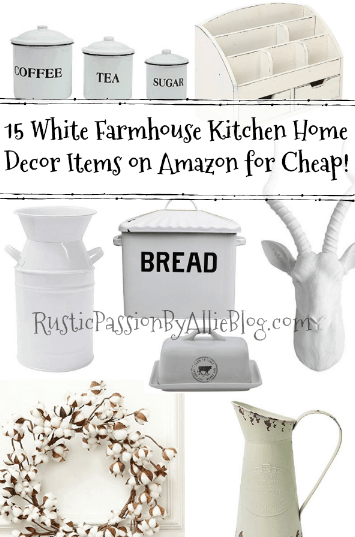 white kitchen decor, farmhouse home decor, white home decor