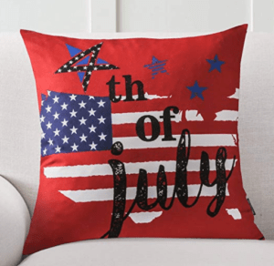 Patriotic Pillow Red White Blue Pillow Flag pillow