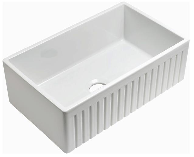 farmhouse sink, fluted sink, white farmhouse sink, farmhouse kitchen