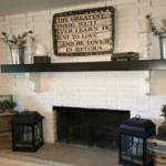 Modern Farmhouse Fireplace Makeover