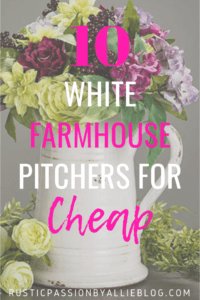 Do you look for the perfect neutral kitchen home decor at a price you can afford? This is a list of the Best Affordable White Farmhouse Pitchers. You will love this collection of kitchen pitchers. #homedecor #farmhousehomedecor #farmhousekitchen #modernfarmhouse #neutralkitchen #whitefarmhousedecor