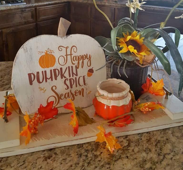 Happy pumpkin spice season wood sign diy fall wood sign wood pumpkin