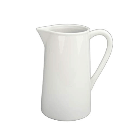 white farmhouse pitcher, white pitcher,