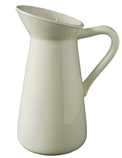 white pitcher white farmhouse pitcher farmhouse kitchen
