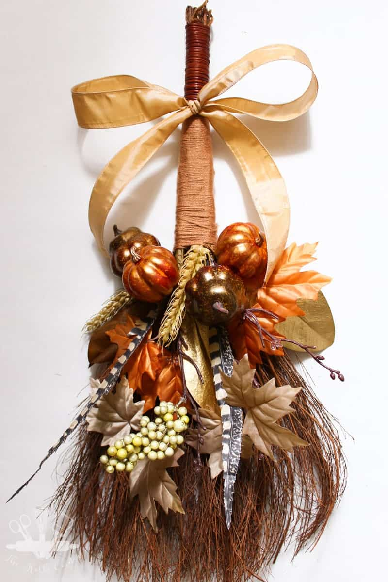 fall broom fall centerpiece pumpkin door hanger fall door hanger