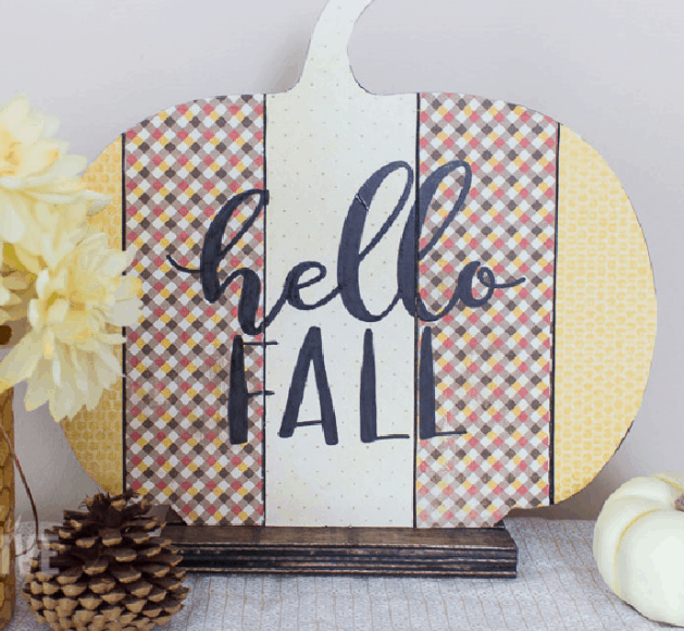 hello fall diy pumpkin craft diy fall sign fall home decor