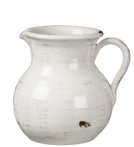 white farmhouse pitcher white kitchen decor