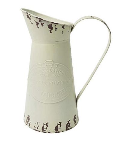 vintage pitcher white pitcher farmhouse pitcher