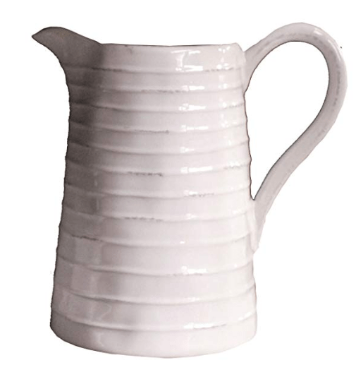 white pitcher white texture pitcher white kitchen decor