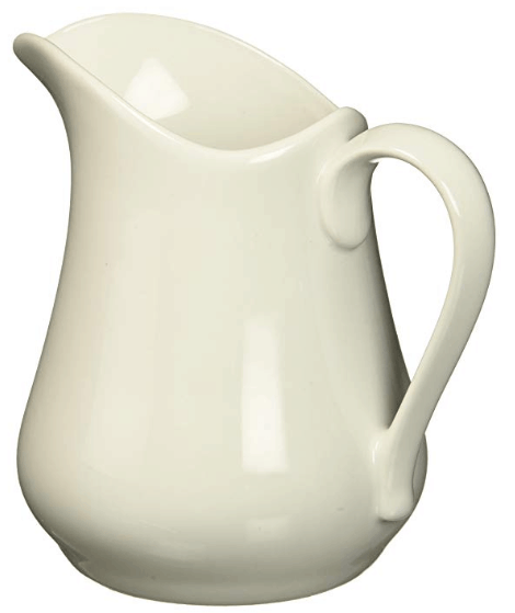 white pitcher farmhouse pitcher