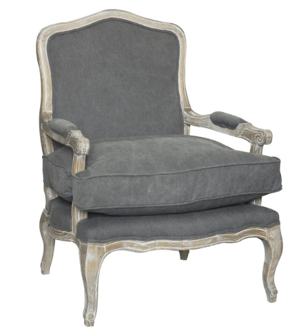 gray accent chair gray farmhouse chair