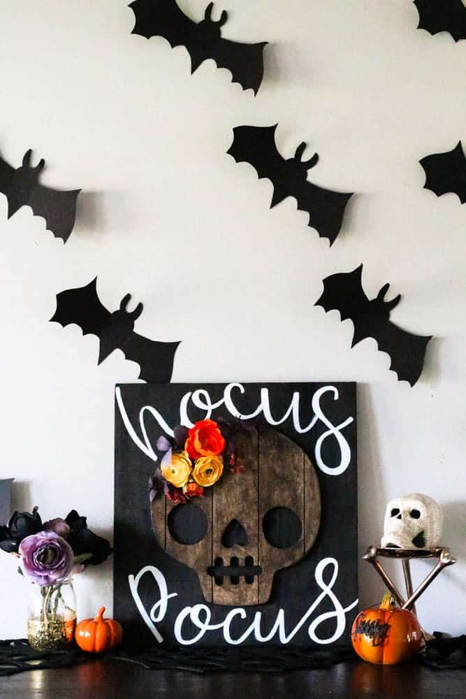 diy halloween wood sign diy halloween home decor