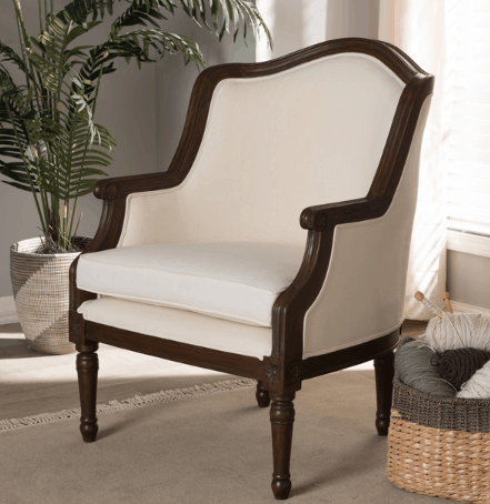 french accent chair farmhouse chair