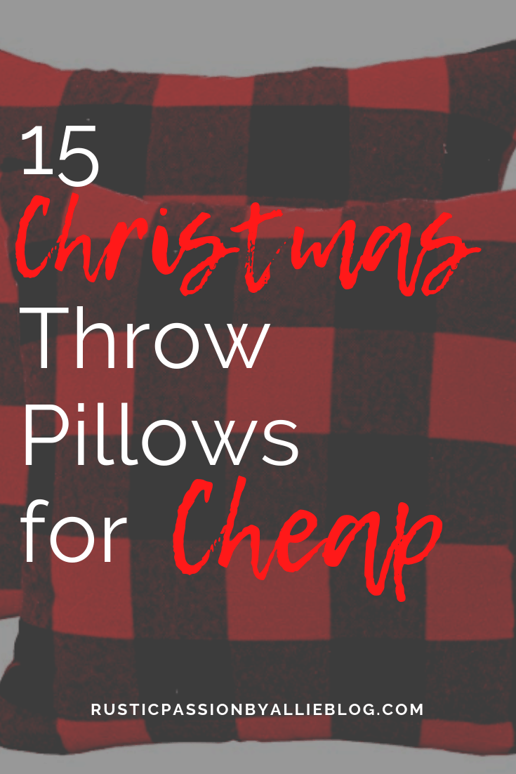 Farmhouse Throw Pillow - Christmas Throw Pillow - Red Throw Pillow - Farmhouse Christmas Pillows