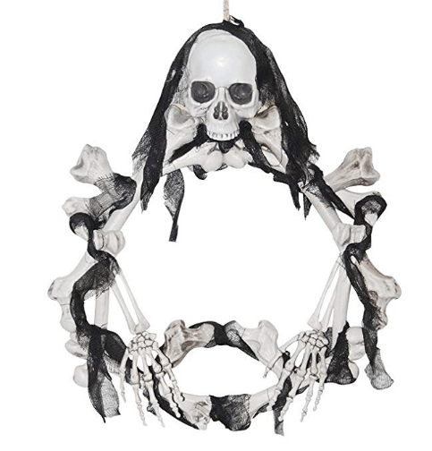 halloween wreath skull home decor diy halloween decor skull wreath