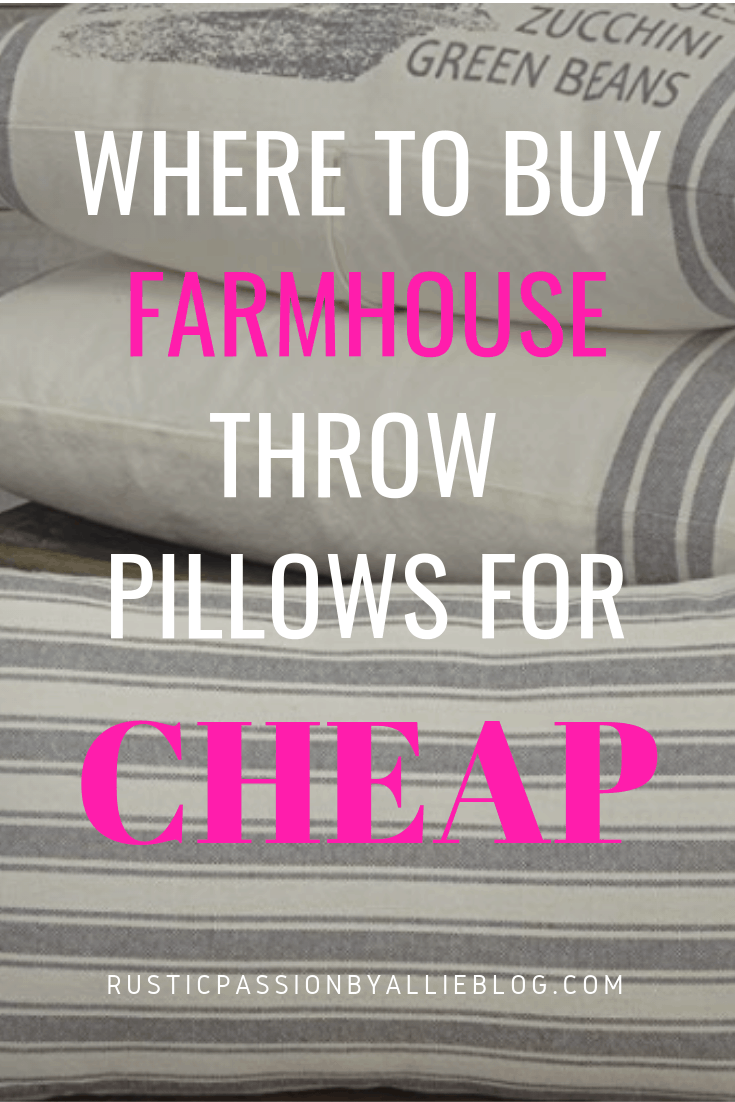 Farmhouse Throw Pillow - Farmhouse Pillows for Cheap - Affordable Farmhouse Pillows - Farmhouse Home Decor