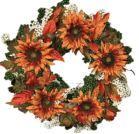 pumpkin wreath fall wreath fall leaves decor autumn home decor fall home sunflower wreath orange fall wreath