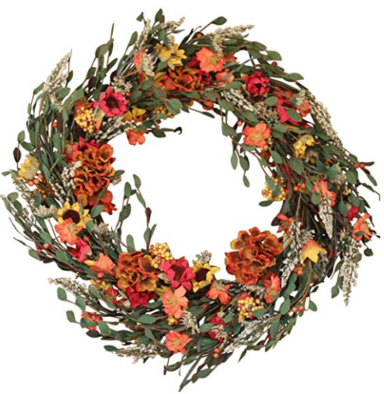 Fall wreath Fall home decor autumn home decoration sunflower wreath orange wreath
