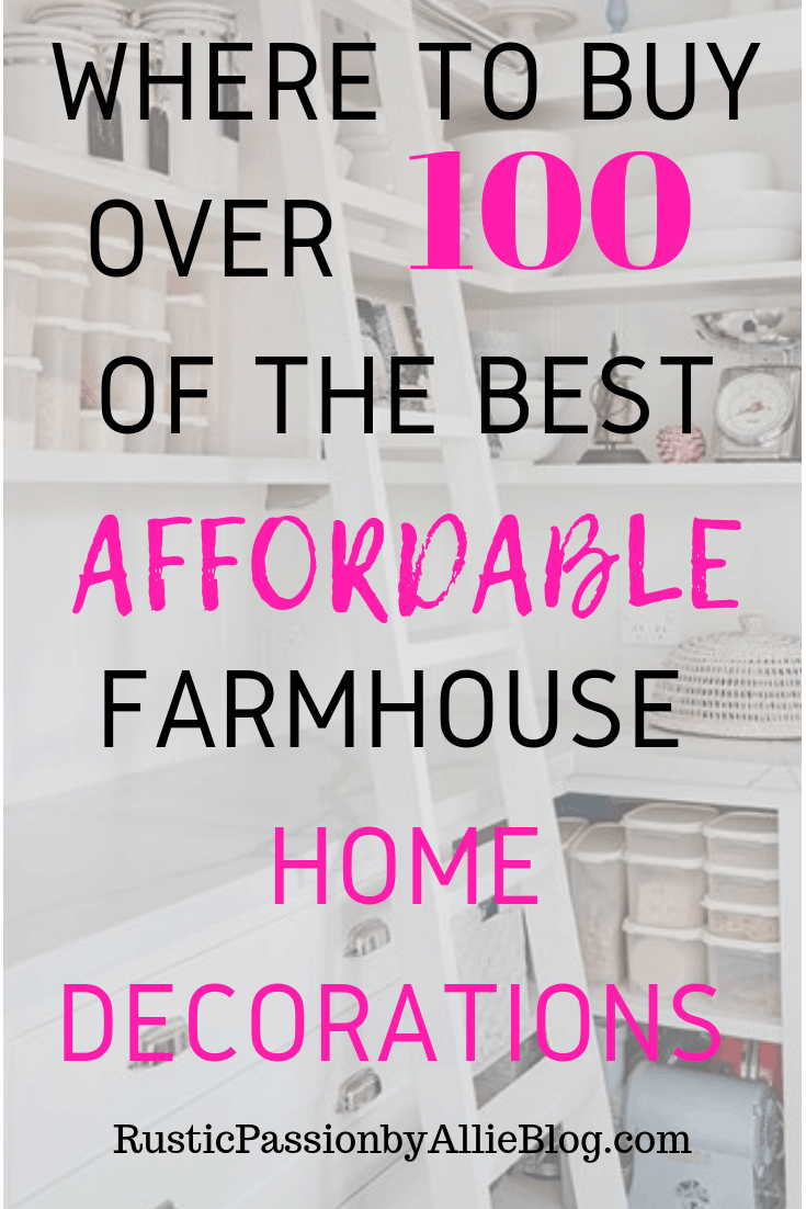 Affordable Farmhouse Home Decor - Cheap Farmhouse Home Decor - Home Decor - White Home Decor - Kitchen Home Decor - Bedroom Decor