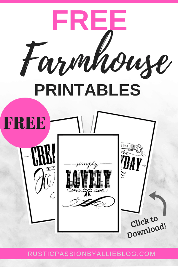 Farmhouse Home Decor - Free Printable - Free Farmhouse Printable - Farmhouse Printable - DIY Home Decor - DIY Farmhouse Decor