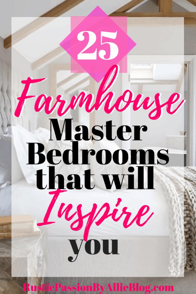 Farmhouse Home Decor - Farmhouse Master Bedroom - Master Bedroom - Neutral Master Bedroom - White Master Bedroom