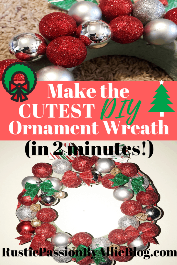 Make This Easy Dollar Store Ornament Wreath For Less Than 10