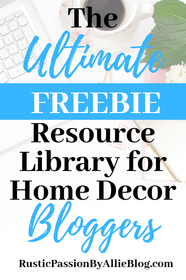 The best tips and freebies for home decor bloggers and DIY crafters.