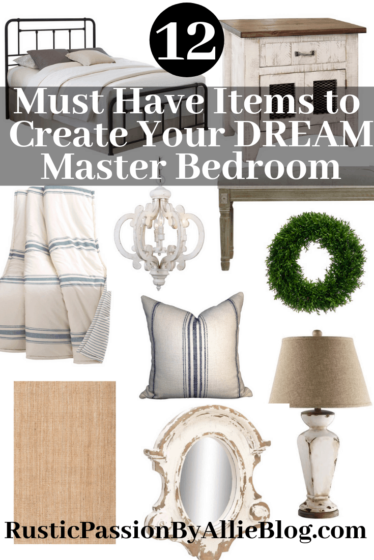 Joanna Gaines Inspired Master Bedroom Must Haves to create the Perfect Bedroom you will never want to leave.