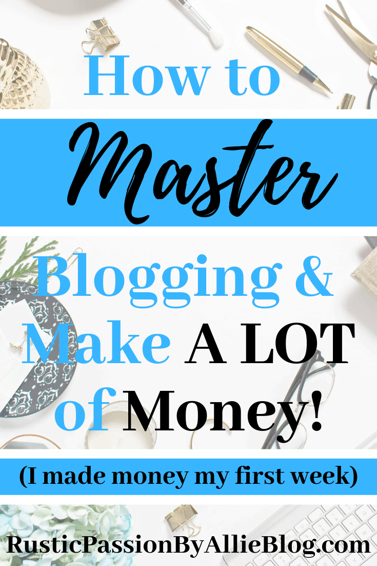 How to start a profitable blog the easy way. You can start making money from home quickly in a few steps. #Bloggingtips #makemoneyfromhome #makemoneyblogging