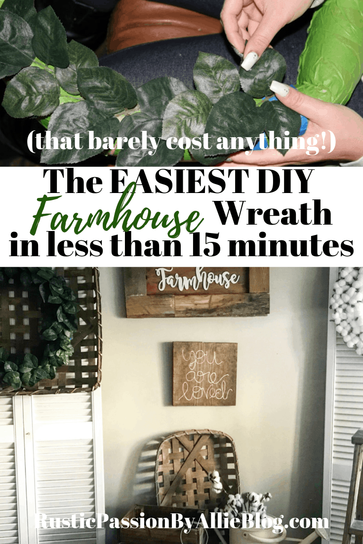 Learn how to make this Joanna Gaines fixer upper style Magnolia wreath. It barely costs anything and you will love displaying it with your Farmhouse home decor.