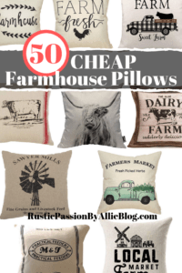 12 farmhouse throw pillows with text overlay - 50 cheap farmhouse pillows