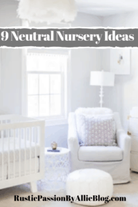 white nursery with white rocker and white crib text overlay - 9 neutral nursery ideas