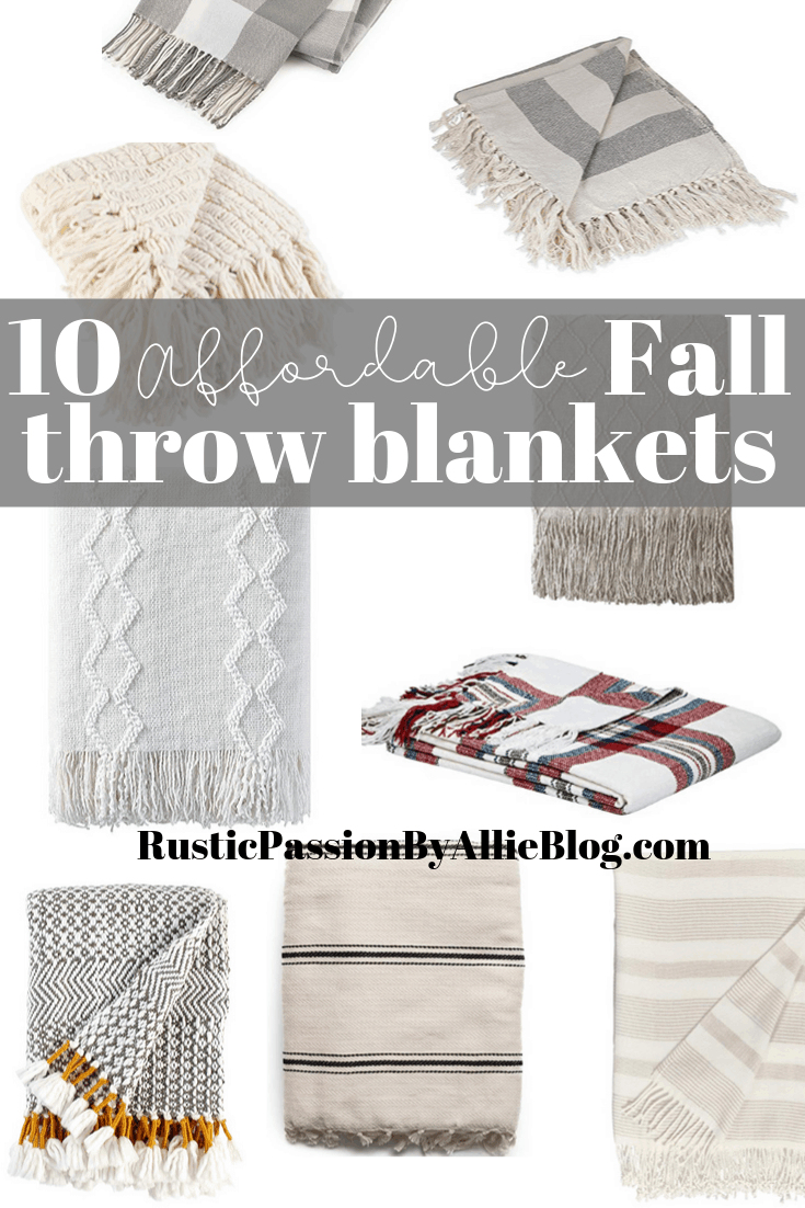 10 Affordable Cute Fall Throw Blankets To Bring Out Your