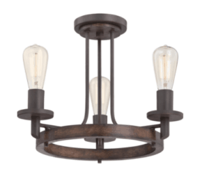 small wood light fixture