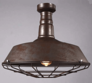 rusted industrial light pendant