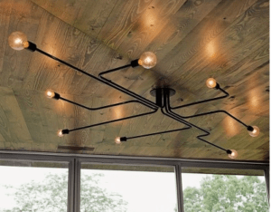 iron industrial light fixture