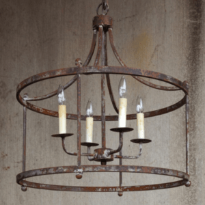 circle industrial light fixture