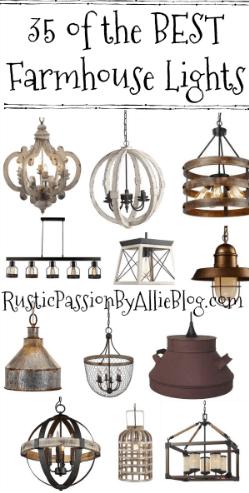 farmhouse lights, farmhouse light fixtures, farmhouse home decor