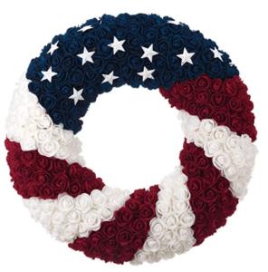 Patriotic Wreath Red White Blue Wreath Flag Wreath