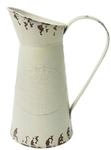 farmhouse pitcher, farmhouse white pitcher, farmhouse kitchen home decor, farmhouse kitchen