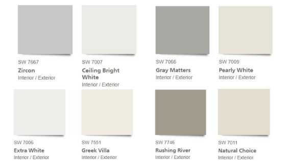Pottery Barn Sherwin Williams Farmhouse Neutral Paint