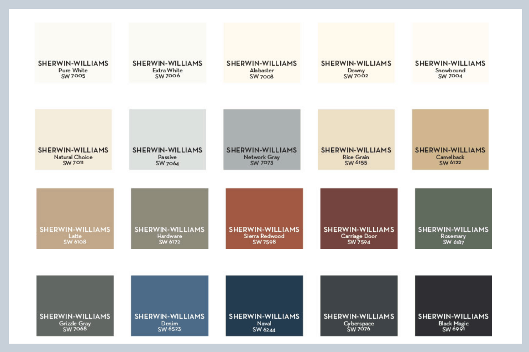 Pottery Barn Sherwin Williams Farmhouse Neutral Paint Color Guide