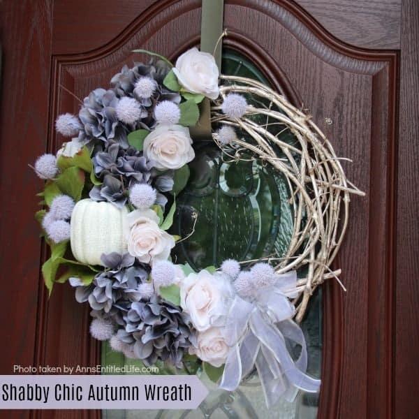 shabby chick white wreath autumn wreath white wreath diy wreath