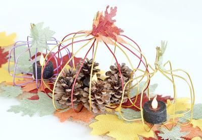 diy wire pumpkins diy fall centerpiece