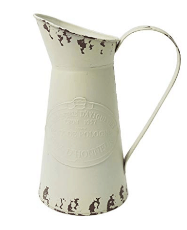 vintage pitcher white pitcher farmhouse pitcher